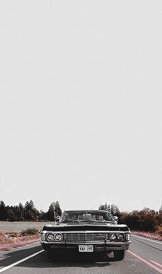 "with the 67 Impala ""Baby"" Supernatural Impala, Supernatural Series, Supernatural Bloopers, Supernatural Pictures, Supernatural Quotes, Supernatural Background, Supernatural Wallpaper Iphone, Supernatural Tattoo, Castiel"
