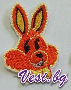 machine embroidery rabbit