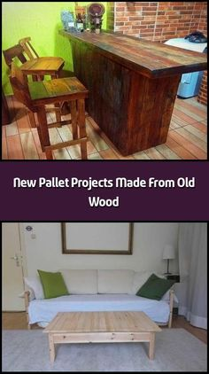 Here come the new pallet projects made from old wood which are amazingly adorable. These new pallet projects aimto boost the elegance of your home. Trendy Furniture, Sofa Furniture, Pallet Furniture, Furniture Ideas, Outdoor Furniture Sets, Outdoor Decor, Pallet Wall Decor, Pallet Sofa, Garden Spaces