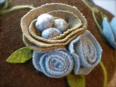 Felted Wool Sweater Pillows   pillows are made from wool felt wool roving and upcycled wool sweater ...