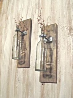 Wine Bottle Wall Decor Wine Bottle Wall Vase Display With Old Window Doori Used This