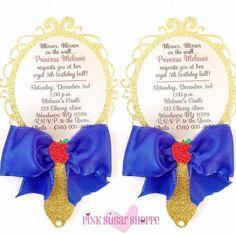 Snow White Invitation - Snow White Party - Mirror Invitation - Snow White Theme - Snow White Birthday www.lovepinksugarshoppe.com