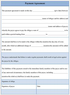8 Best Payment Agreement Images
