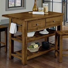 There is no question that designing a new kitchen layout for a large kitchen is much easier than for a small kitchen. A large kitchen provides a designer with adequate space to incorporate many convenient kitchen accessories such as wall ovens, raised. Kitchen Cart, Kitchen Layout, New Kitchen, Kitchen Decor, Consoles, Kitchen Trends, Kitchen Ideas, Kitchen Designs, Primitive Kitchen