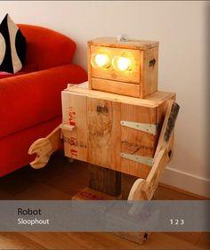 Robotlamp van bee meubels