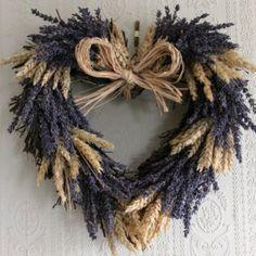Lavender & Wheat Heart