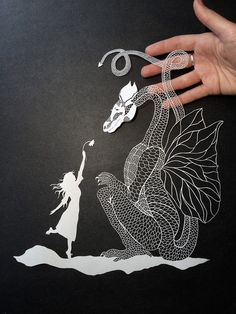 New Meticulously Cut Paper Illustrations by Maude White