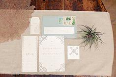 Gorgeous wedding invitations.