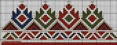 С Couture Embroidery, Folk Embroidery, Cross Stitch Embroidery, Embroidery Patterns, Stitch Patterns, Knitting Patterns, Cross Stitch Letters, Cross Stitch Borders, Creative Embroidery