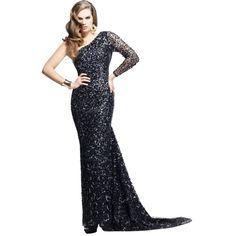 Pre-owned Sherri Hill Gunmetal 2756 Dress ($170) ❤ liked on Polyvore featuring dresses, gunmetal, sheer sleeve dress, white embellished dress, sequin cocktail dresses, sequin dress and sequin embellished dress
