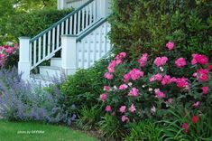 Beautiful curb appealing landscaping. From PorchIdeas.com #landscaping