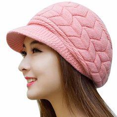Winter Fashion Knitted Beanie Snow Cap