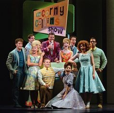Hairspray- Link (Matthew Morrison), Amber (Laura Bell Bundy), Corny Collins (Clarke Thorell), and the Nicest Kids in Town