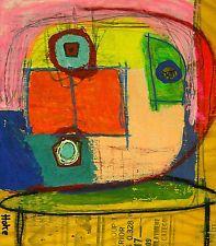 COSMONAUT / 2 for 1 Hoke Outsider RAW Folk Abstract Art Brut Painting