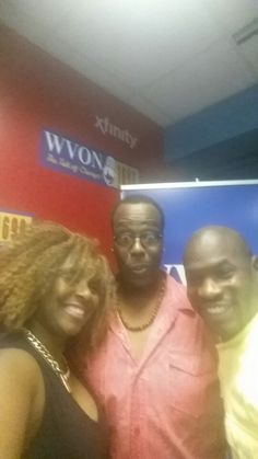 Host of #realtalkrealpeople, Chatdaddy,  and Relationship Expert, Okera and myself! #wvon #realtalkrealpeople #lovechapters #TerryD