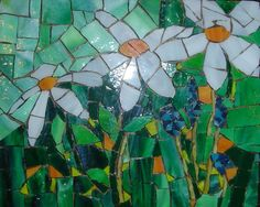 this mosaic was made from home made tiles.