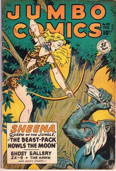 Jumbo Comics #120 February 1949 Fiction House Grade VG