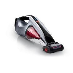 Cordless hand held pet vacuum by Hoover. Works good for pet hair on furniture. Dust cup is hard for small hand to twist off, but Lithium battery is interchangeable with Hoover's stick vacuum.