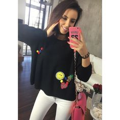 Trendy černý dámský pletený svetřík - manozo.cz Trendy, T Shirts For Women, Tops, Fashion, Moda, Fashion Styles, Fashion Illustrations