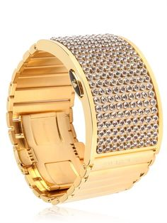 It's a digital watch where the @Swarovski crystals light up to show the time. D:Light Watch at @luisaviaroma