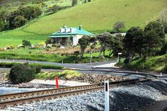 North west coast, Tasmania..Train tracks
