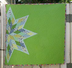 love the placement and large solid area. Scrappy Lone Star Quilt by Better Off Thread (aka Sewgirly!), via Flickr