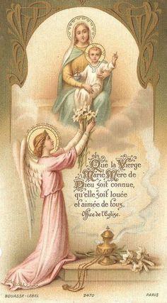 E o anjo saudou Maria: Ave Maria, cheia de graça, o Senhor é convosco!