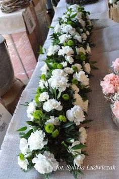 ~ Trendy Wedding Table Flowers Wild in 2020 Altar Flowers, Church Flower Arrangements, Church Flowers, Wedding Table Flowers, Funeral Flowers, Wedding Arrangements, Floral Arrangements, Wedding Reception, Floral Centerpieces