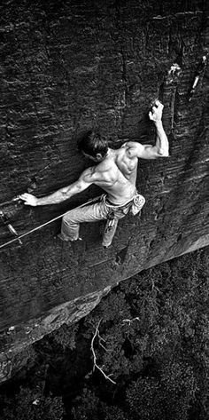 Rock Climbing fight.
