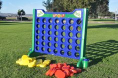 Great for school and company events, carnivals and outdoor parties, this giant Connect Four game (also known as Up-4-It or Four-In-A-Row) always keeps a crowd entertained. At almost four feet tall, it