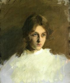 Portrait of Edith French, 1901, John Singer Sargent Size: 45.72x60.96 cm Medium: oil, canvas