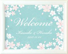 結婚式 ウェルカムボード「かのん桜」|ファルベ Banner Design, Flyer Design, Layout Design, Web Design, Graphic Design, Spring Design, Floral Illustrations, Design Development, Party Games