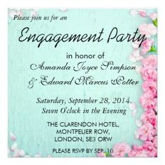 Engagement party invitation card | ~ Weddings V ~ Rustic, Country, Grunge Invitations