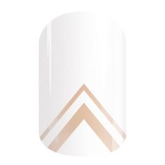 Ascent - A triangle cutout at the base of, 'Ascent' makes this white-and-clear design perfect for letting your natural nail or favorite lacquer shine through. #ASCENTJN #JAMBERRY
