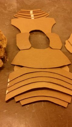 Cardboard samurai armor template by W00stersam