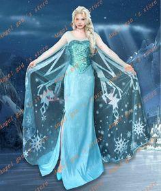 Movies Frozen Snow Queen Elsa Cosplay Costume Deluxe Dress tailor made kid Elsa Cosplay, Frozen Cosplay, Costume Princesse Disney, Disney Princess Costumes, Robes Disney, Disney Dresses, Cheap Cosplay Costumes, Adult Costumes, Costumes
