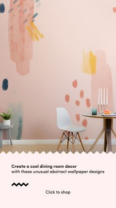 Introduce a colourful and creative new aspect to your space with this paint brush strokes wallpaper, a unique design. Paint Wallpaper, Dining Room Wallpaper, Dining Room Paint, Wallpaper Murals, Custom Wallpaper, Designer Wallpaper, Accent Wall Bedroom, Wall Decor, Room Decor
