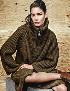 knitwear   Jason Kibbler for Vogue Russia, Sept. 2014 • Ophelie Guillermand styled by Olga Dunina