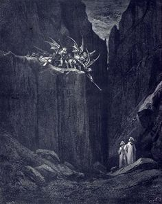 Inferno 23 - images from Gustave Doré's illustrations to The Divine Comedy.