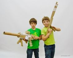 Cardboard weapon