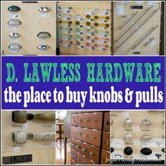 D Lawless Hardware - the best place to buy knobs & pulls