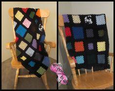 Scrap yarn Granny Blanket