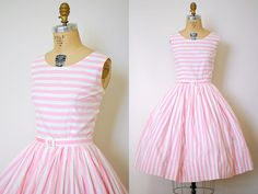 Pink Stripe sundress  Change the top part of the dress and make it white.