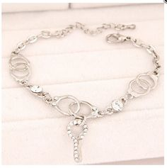 Handcuff with Key Pendant Bracelet