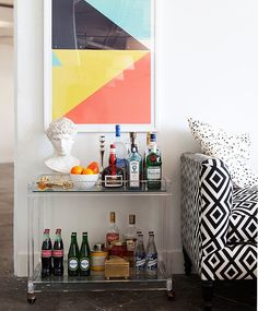 A throwback to simple, sophisticated days past, bar carts will bring a dash of Old...