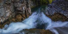 Divided We Fall by DaniloFaria  water rocks fall panorama waterfall long exposure sandstone southwest west polarizer emerald waters