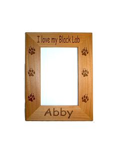 I Love My Black Lab..Picture Frame by gclasergraphics on Etsy
