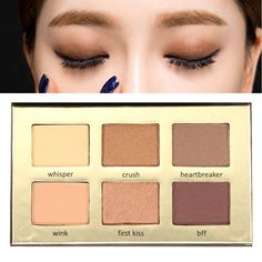 6 Colors Shimmer Matte Eye Shadow Eyeshadow Makeup Palette Cosmetic Set - NewChic