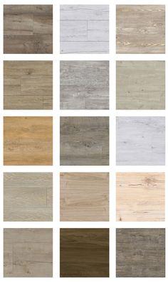 Selectie van onze houtlook pvc vloeren! Bestel 6 GRATIS stalen op onze website…
