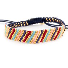 Chan Luu - Multi Mix Single Bracelet on Navy Cord, $70.00 (http://www.chanluu.com/bracelets/multi-mix-single-bracelet-on-navy-cord/)